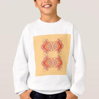 Design elements exotic  Red Beige Sweatshirt