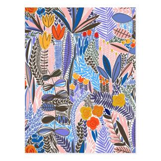 Design elements  Flowers ethno  Folk Postcard