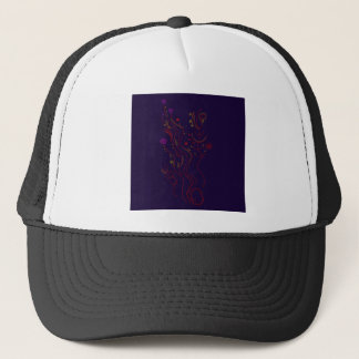 Design elements  Folk blue Trucker Hat
