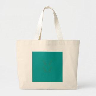 Design elements gold cyan large tote bag