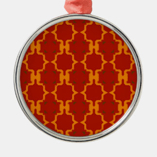 Design elements gold  red metal ornament
