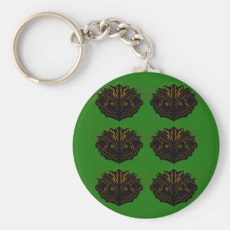 Design elements green black eco key ring