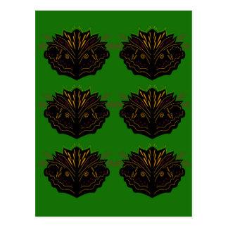 Design elements green black eco postcard