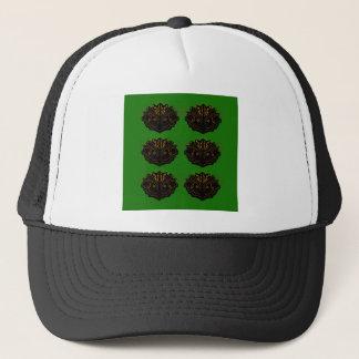 Design elements green black eco trucker hat