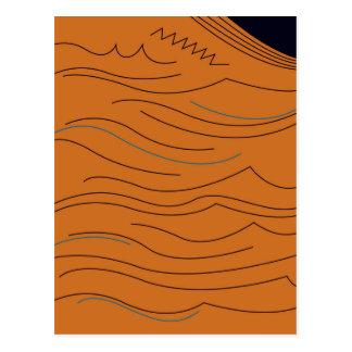 Design elements hot aztecs postcard