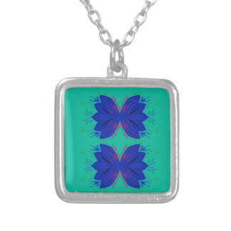 Design elements Mint Blue Silver Plated Necklace