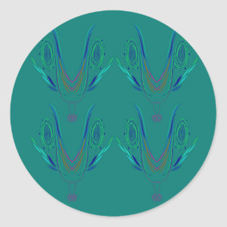 Design elements nordic Green Classic Round Sticker