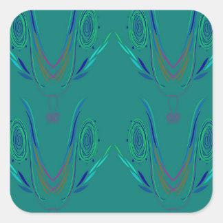 Design elements nordic Green Square Sticker