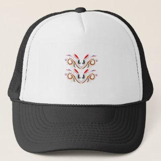 Design elements nostalgia trucker hat