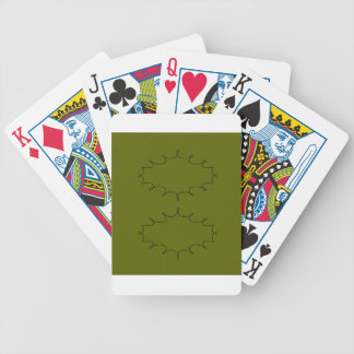 Design elements olives bicycle playing cards