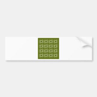 Design elements olives Ethno Bumper Sticker