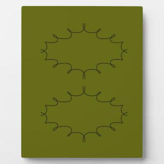 Design elements olives plaque