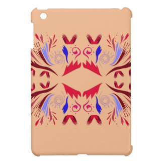 Design elements on beige cover for the iPad mini