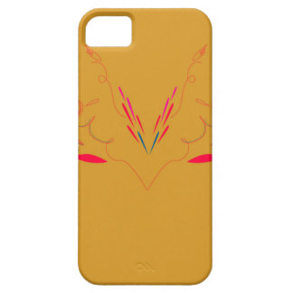 Design elements on gold iPhone 5 cover