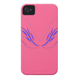 Design elements on pink iPhone 4 cover