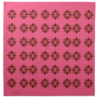 Design elements on pink napkin