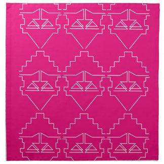 Design elements on pink napkin