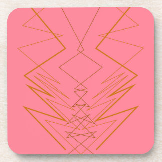 Design elements pink gold zig zag coaster