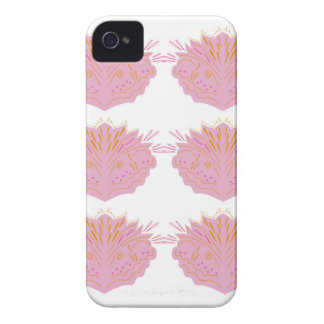 Design elements pink on white iPhone 4 cover