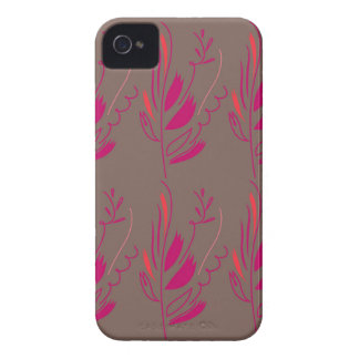 Design elements pink  red ethno iPhone 4 covers