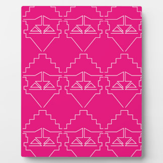 Design elements Pink White Plaque