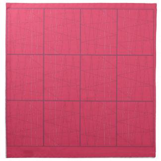 Design elements pink zig zag napkin