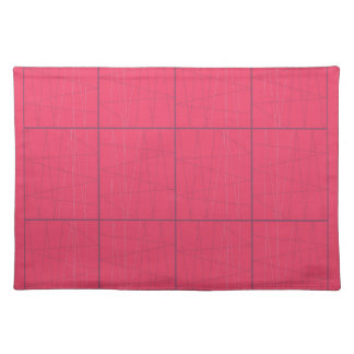 Design elements pink zig zag placemat