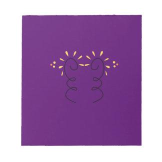 Design elements purple wine notepad