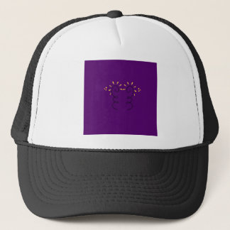Design elements purple wine trucker hat