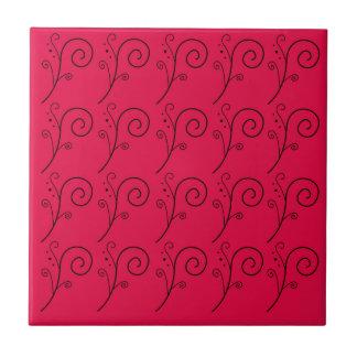 DESIGN ELEMENTS RED  FOLK TILE