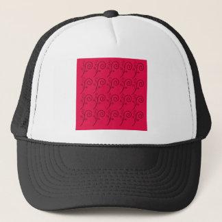 DESIGN ELEMENTS RED  FOLK TRUCKER HAT