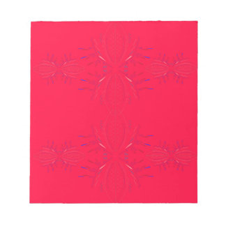 Design elements  red lace notepad