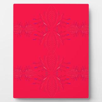 Design elements  red lace plaque