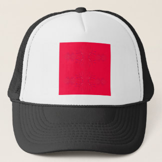Design elements  red lace trucker hat