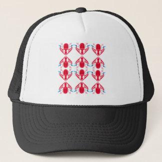 Design elements  Red on white Trucker Hat