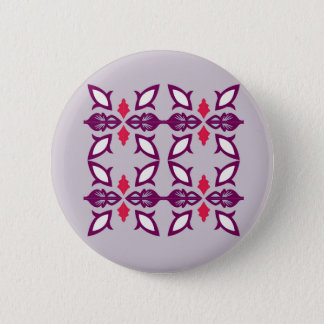 Design elements silver 6 cm round badge