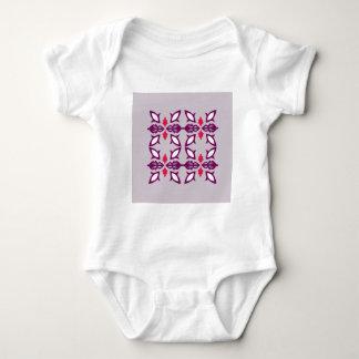 Design elements silver baby bodysuit
