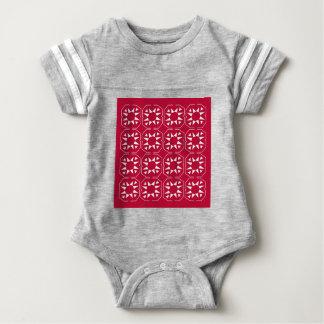 Design elements white  red ethno baby bodysuit
