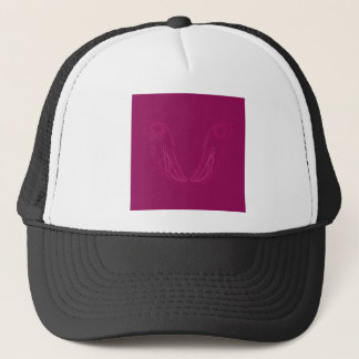 Design elements wine ethno trucker hat