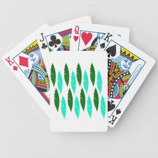 Design elements with Green leaves Bicycle Playing Cards