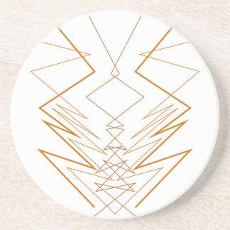 Design elements zig zag on white coaster