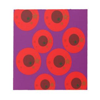 Design ethnic plums wild  Red Purple Notepad
