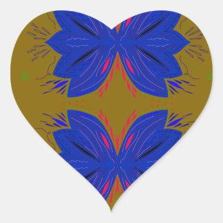 Design ethno elements heart sticker