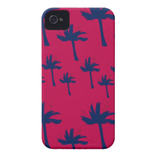 Design ethno Palms deep  red iPhone 4 Case-Mate Case