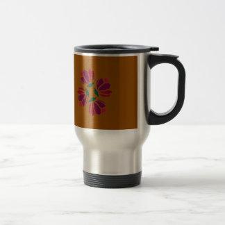 Design ethno with clay travel mug