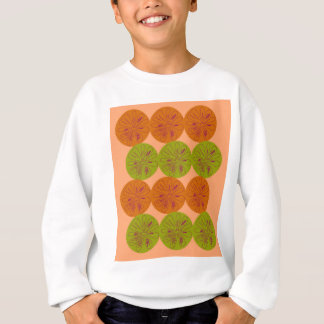 Design exotic lemons on gold sweatshirt