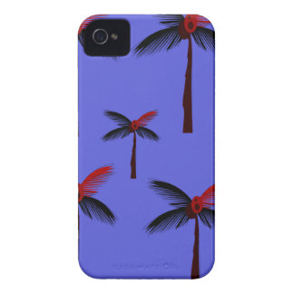 Design exotic Palms on blue iPhone 4 Case-Mate Case