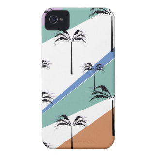 Design exotic palms with Diagonal lines Case-Mate iPhone 4 Case