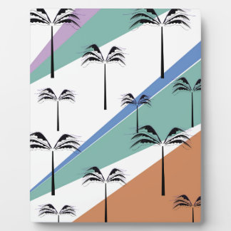 Design exotic palms with Diagonal lines Plaque