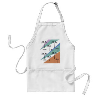 Design exotic palms with Diagonal lines Standard Apron